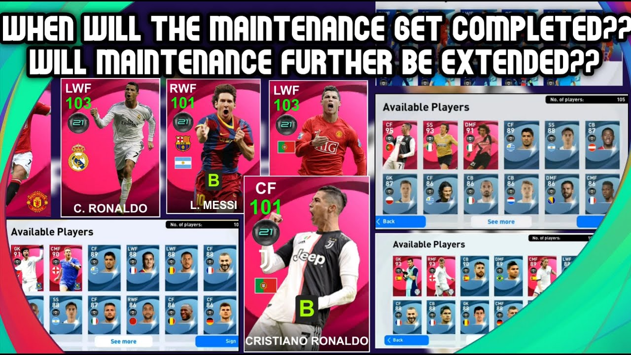 PES 2021🔴 MAINTENANCE EXTEND 😖FREE 1000 EFOOTBALL POINTS | ICONIC RONALDO / MESSI  COMING !!!