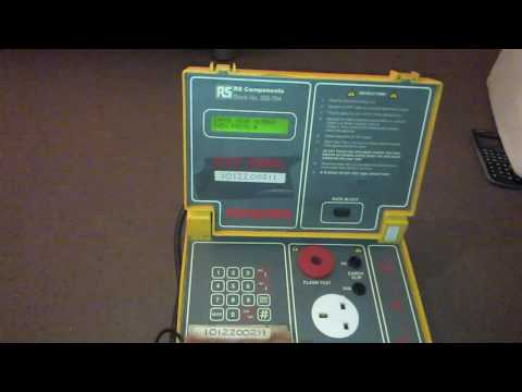 How to use a seaward pat tester model PAT1000s