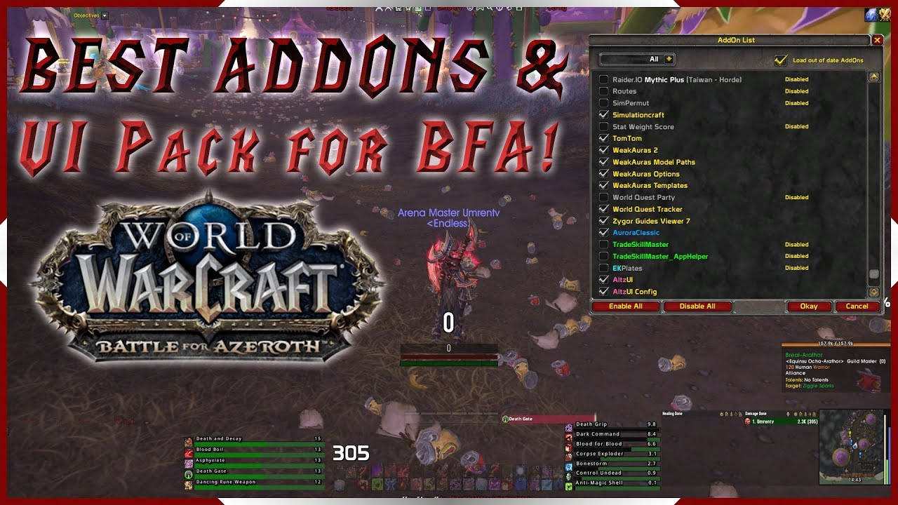 Extra action bar wow addon