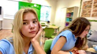 МОЙ ЦЕЛЫЙ ДЕНЬ американской школьницы - школа, макияж, подружки