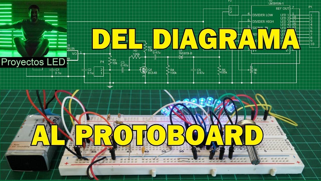 Como Pasar Circuito En Diagrama Esquematico Al Protoboard
