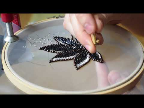 Tambour Embroidery Leaf