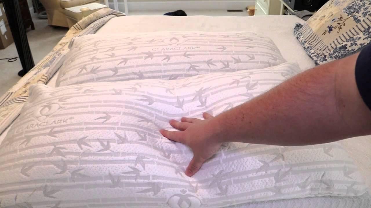 clara clark micro bamboo rayon shredded memory foam pillow