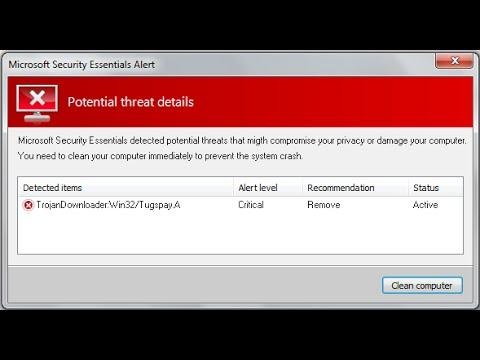 Remove TrojanDownloader:Win32/Tugspay A Virus Quickly