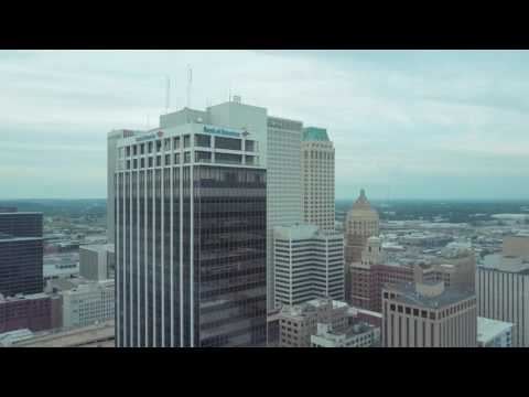 Downtown Tulsa - Drone Flight