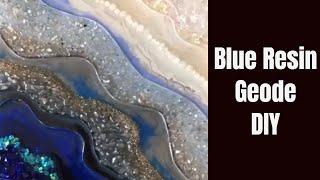 7. DIY Tutorial Blue Resin Geode