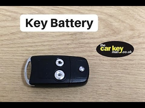 Honda Jazz Flip Key 2013 Key Battery Youtube