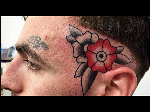 Crazy Head And Face Tattoo