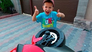 Unboxing Assembling and riding Sportbike BMW 12 volt - Children's bike