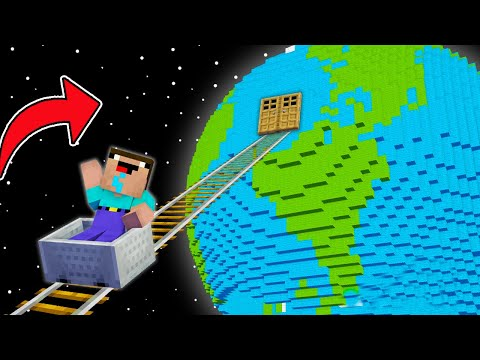 Minecraft NOOB vs PRO: NOOB FOUND RAILS TO THE EARTH! SECRET PLANET BASE! (Animation)