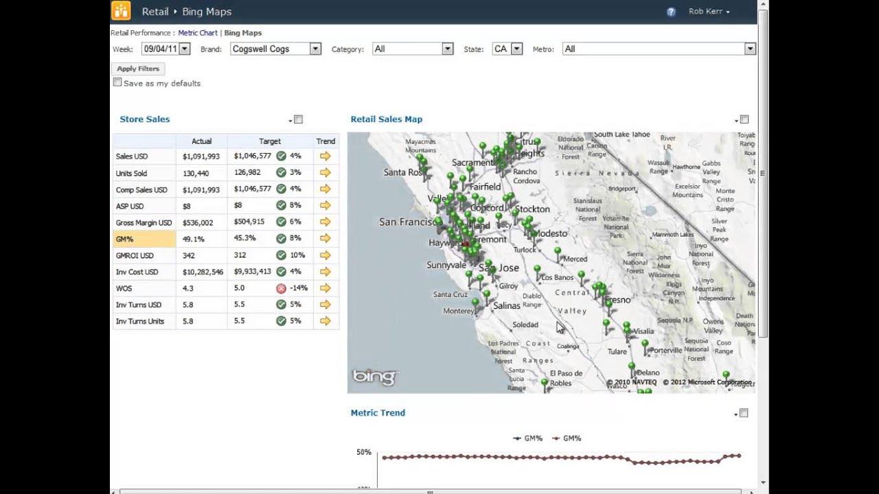 Bing Maps PerformancePoint Customization