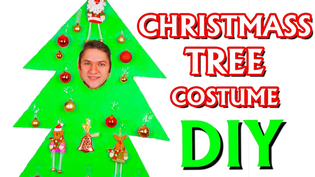 Christmas Tree Costume.How To Make Christmas Tree Costume From Cardboard