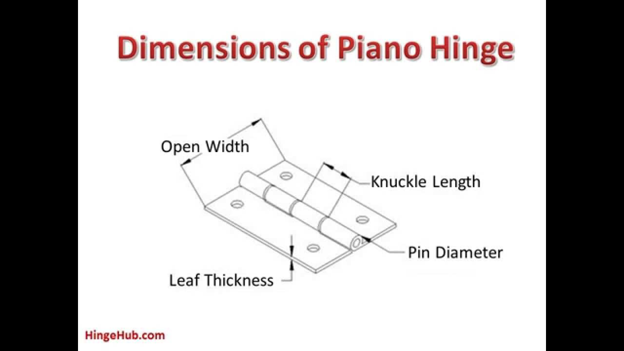 How to use piano hinges youtube for Small piano dimensions