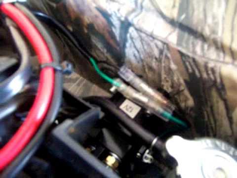 Honda Rancher 350 Es Wiring Diagram Winch Install 2014 Yamaha 550 Grizzly Custom Wiring Youtube