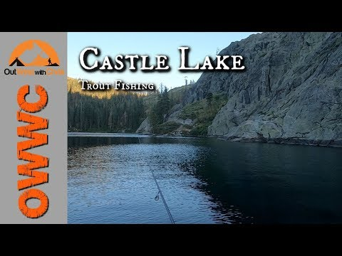 Castle Lake Kayak Trout Fishing