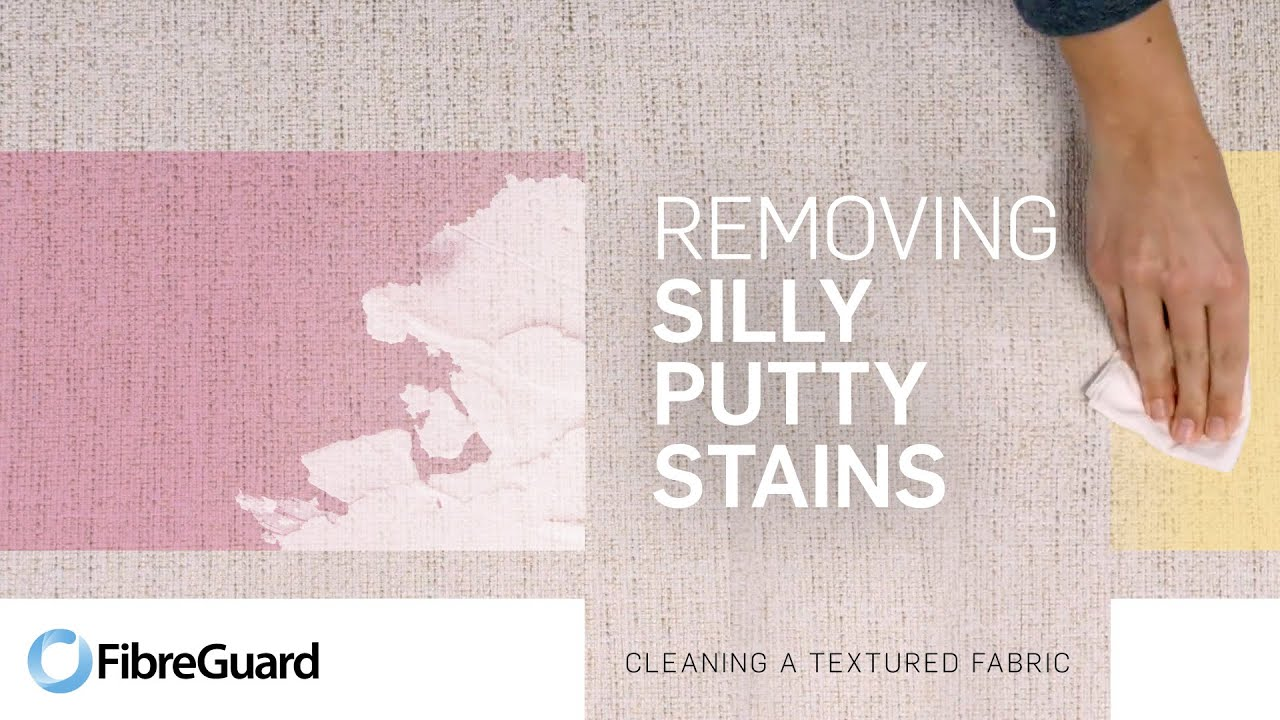 removing silly putty stains from textured fabric youtube