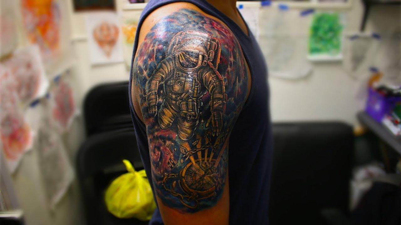 space tattoo- sleeve