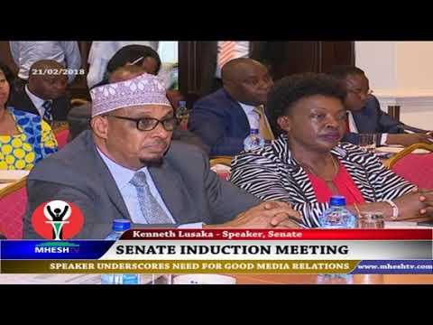 Senate Speaker Ken Lusaka on Senate-media relations