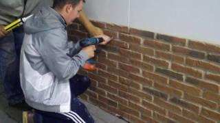 PT1. DREAMWALL: Installing Rustic Red Brick panels VLOG (video diary)