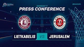 Lietkabelis v Hapoel Bank Yahav Jerusalem - Press Conference - Basketball Champions League 2018-19