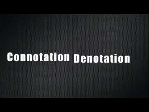 Connotation And Denotation Youtube