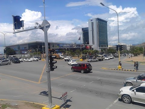 Driver's View of Port Moresby city