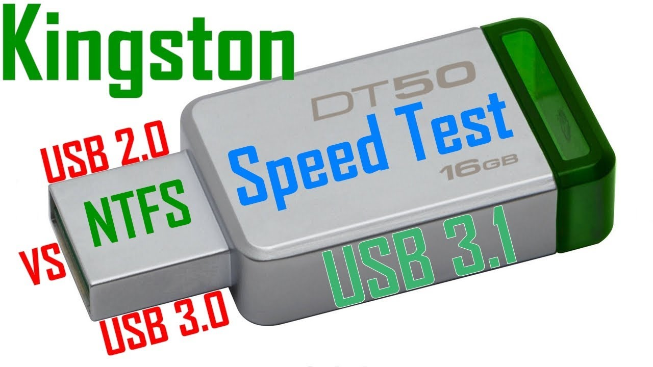 Rd 231 Kingston Datatraveler 50 16gb Usb 31 Dt50 Speed Test Youtube Flashdisk 16 Gb