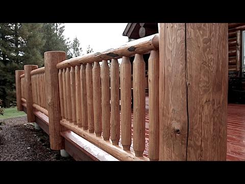 Premium Log Home Railing - Wildcat Wood