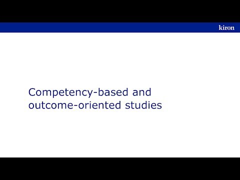Competency-based and outcome-oriented studies