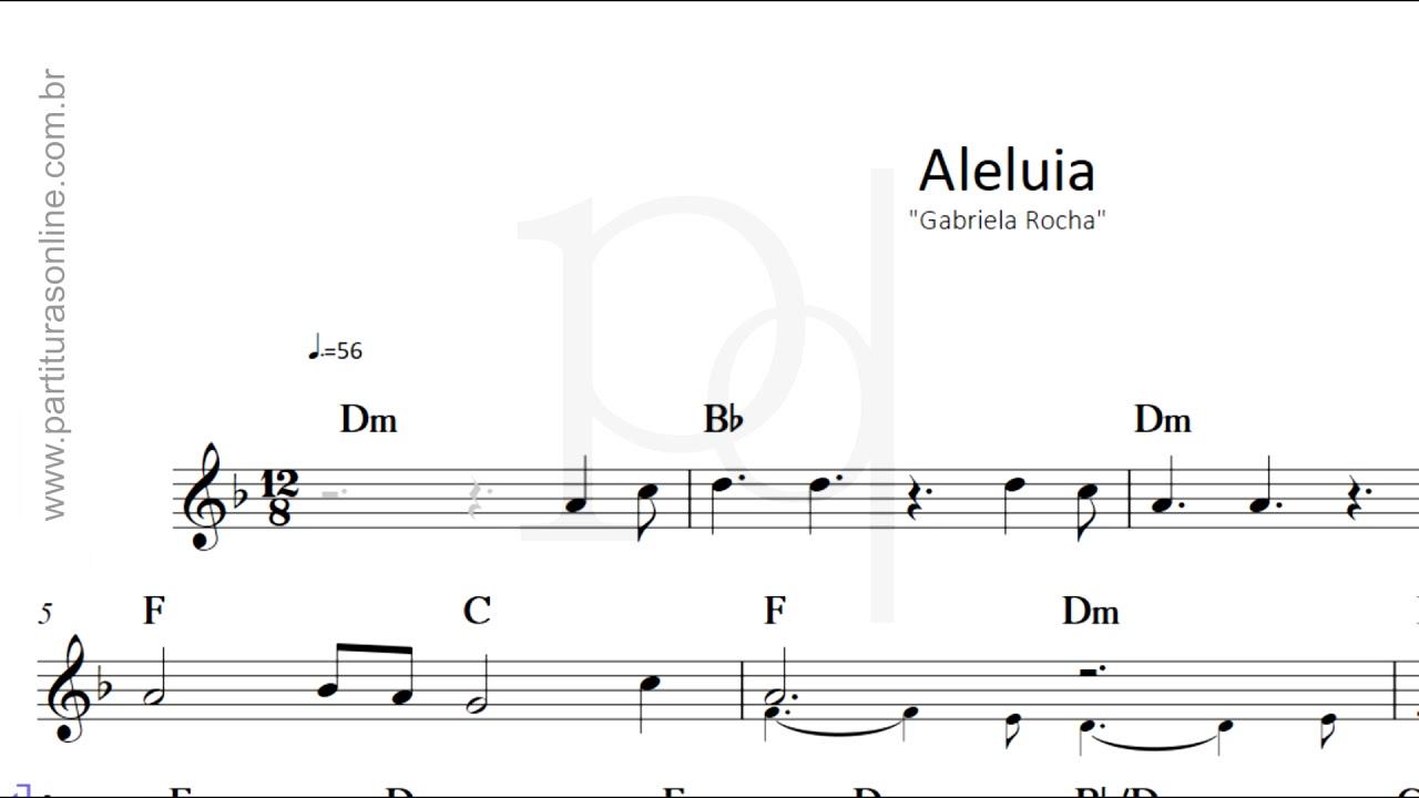 Aleluia - Gabriela Rocha | Partitura