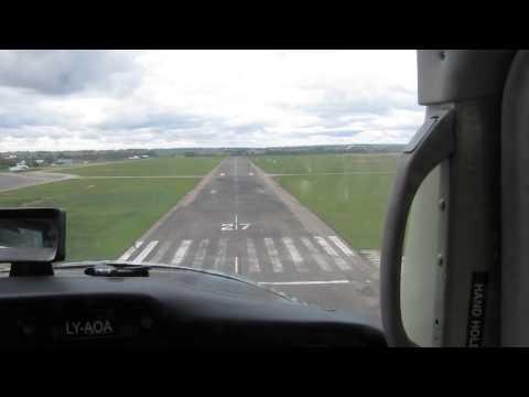 S.Dariaus ir S.Girėno airport (EYKS) touch-and-go landing cessna 150.