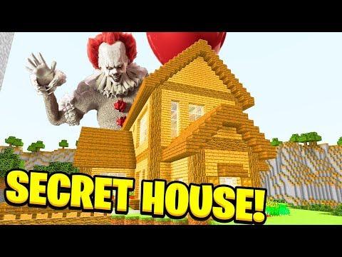 Minecraft: WE FOUND PENNYSWISE SECRET HOUSE! (Ps3/Xbox360/PS4/XboxOne/PE/MCPE)