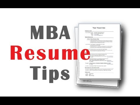 Mba Resume Tips  Youtube