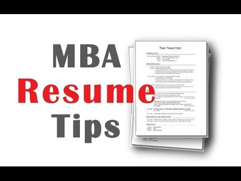 4 MBA Resume Tips