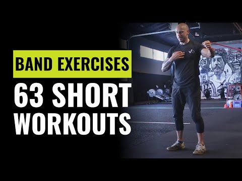 63 Band Exercises You Can Do Anywhere For Short Workouts - At Home, Hotel, On The Road Workout