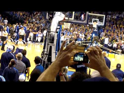 Oklahoma City Thunder Mascot Thunder dunks from 3pt line