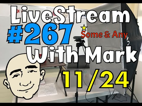 #267 Some & Any | Mark Kulek LiveStream Lesson - ESL