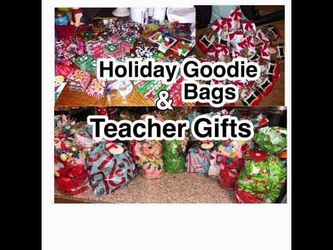 Dollar Tree Goodie Bags For Kids & Teachers Christmas Gifts Wrapping | Gift Ideas