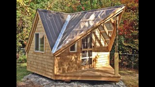 """the 12x14 Writer's Haven"" - Build Tiny House Cottage Cabin - Diy Building Kits In 3 Sizes"