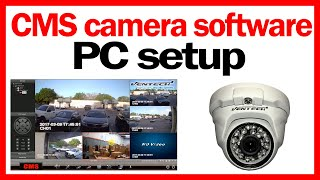 ✅ CMS camera software setup free download for h264 dvr viewer client 🔥