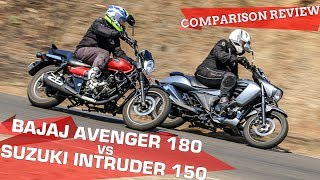 Bajaj Avenger 180 vs Suzuki Intruder 150 | Best Urban Cruiser? | Comparison Review | ZigWheels.com