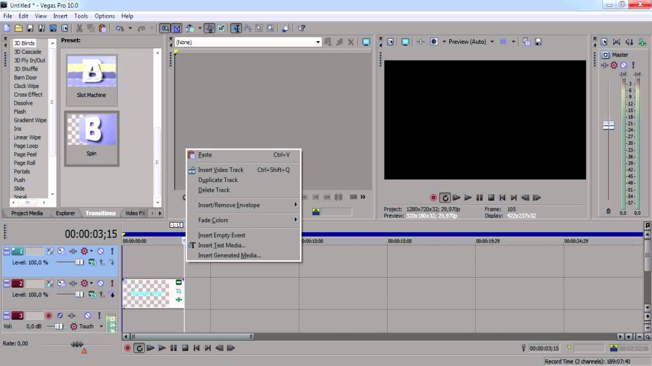 Animation Text Blur Di Sony Vegas