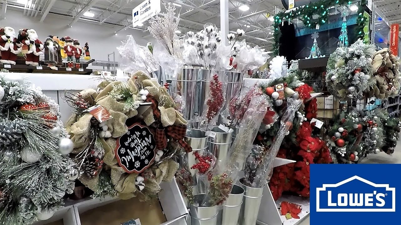 CHRISTMAS DECOR AT LOWE'S - CHRISTMAS SHOPPING DECORATIONS ...