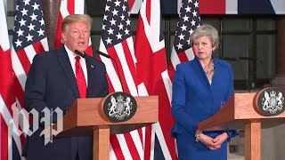 Trump continues state visit to Britain