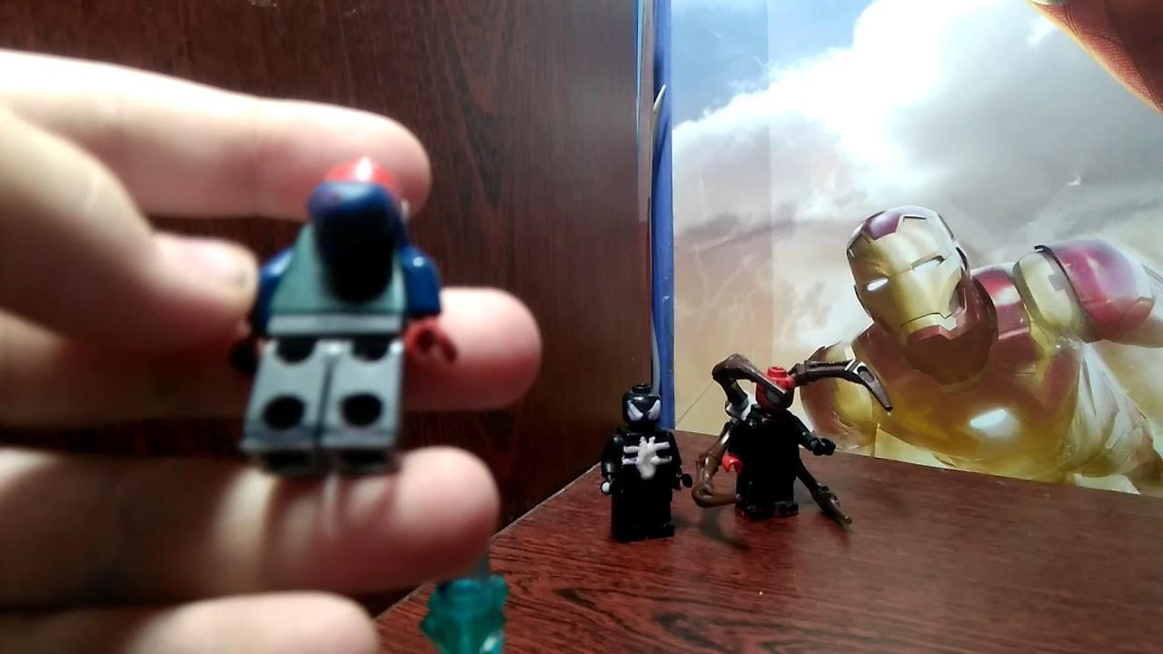 Лего человек паук:самодельные фигурки паучка - YouTube