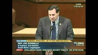 Congressman Donnelly Gives Floor Speech Opposing Proposed Cuts to Pell Grants
