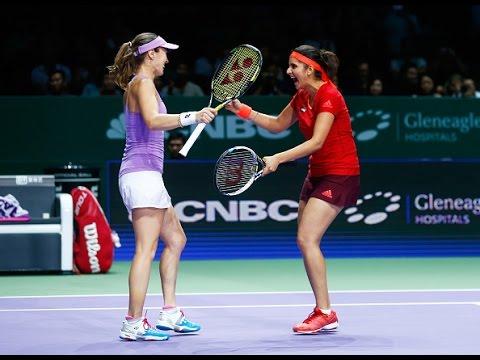 Hingis/Mirza vs Chan/Chan Semifinals | 2015 WTA Finals Highlights