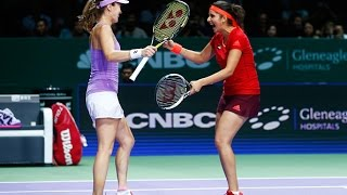 Hingis/Mirza vs Chan/Chan Semifinals | 2015 WTA Finals Highlights