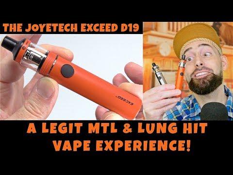 Vaping For Beginners! The Joyetech Exceed D19 Vape Starter Kit!