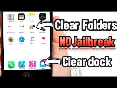 Clear Folders & Dock iOS 9.3.1, 9.3.2 No Jailbreak
